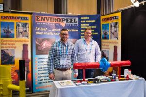 Chris Harrey and Muir Hamilton showcasing Enviropeel and Alocit at ACA Conference - Nov 2016